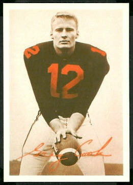 Greg Cook 1969 Tresler Comet Bengals football card