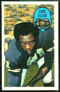 Carl Eller 1970 Kelloggs football card