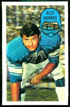 Alex Karras 1970 Kelloggs football card