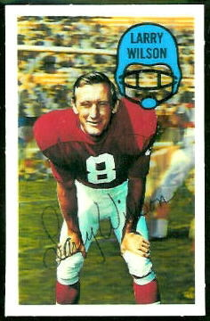 Larry Wilson 1970 Kelloggs football card