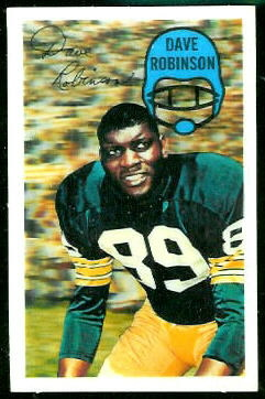 Dave Robinson 1970 Kelloggs football card