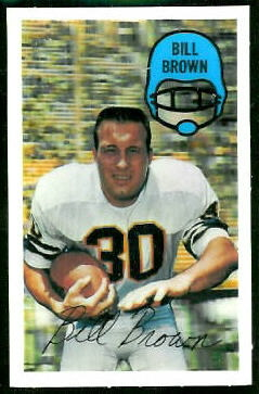 Bill Brown 1970 Kelloggs football card