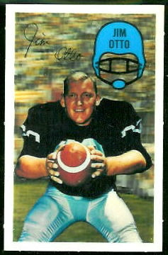 Jim Otto 1970 Kelloggs football card