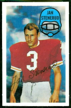 Jan Stenerud 1970 Kelloggs football card