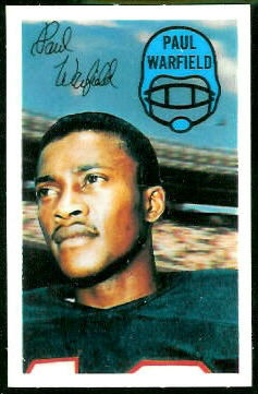 Paul Warfield 1970 Kelloggs football card