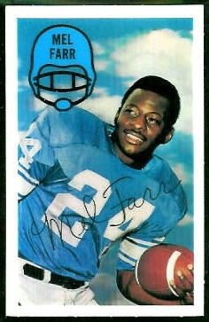 Mel Farr 1970 Kelloggs football card