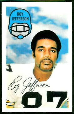 Roy Jefferson 1970 Kelloggs football card