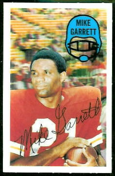 Mike Garrett 1970 Kelloggs football card