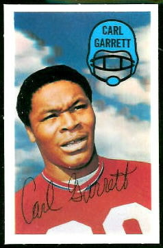 Carl Garrett 1970 Kelloggs football card