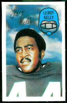 Leroy Kelly 1970 Kelloggs football card