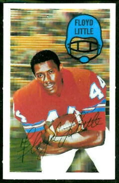 Floyd Little 1970 Kelloggs football card