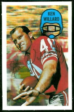 Ken Willard 1970 Kelloggs football card