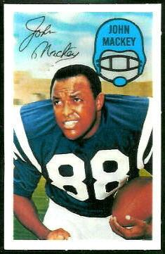 John Mackey 1970 Kelloggs football card