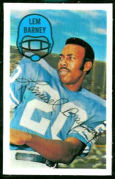 Lem Barney 1970 Kelloggs football card