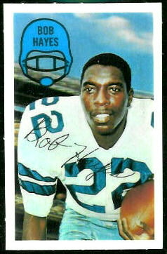 Bob Hayes 1970 Kelloggs football card