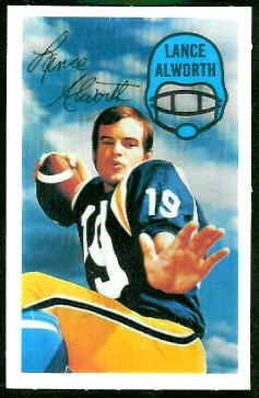 Lance Alworth 1970 Kelloggs football card