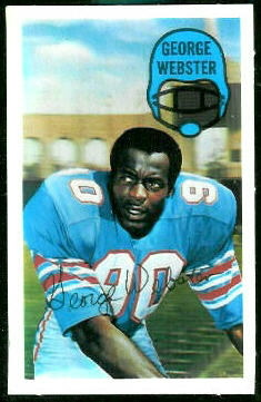George Webster 1970 Kelloggs football card