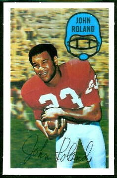 Johnny Roland 1970 Kelloggs football card
