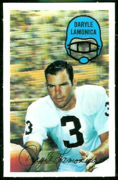 Daryle Lamonica 1970 Kelloggs football card