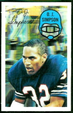 O.J. Simpson 1970 Kelloggs football card