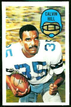 Calvin Hill 1970 Kelloggs football card