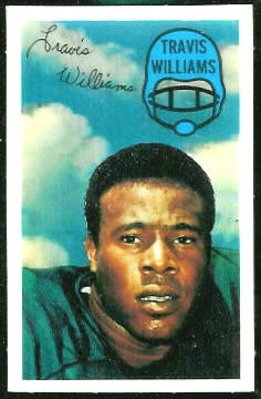Travis Williams 1970 Kelloggs football card