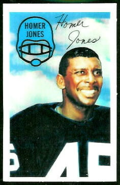 Homer Jones 1970 Kelloggs football card