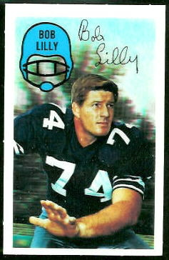 Bob Lilly 1970 Kelloggs football card