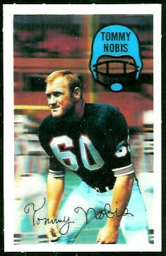 Tommy Nobis 1970 Kelloggs football card