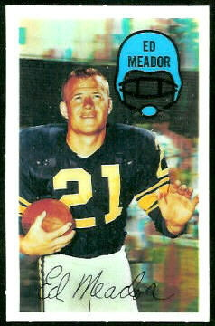 Ed Meador 1970 Kelloggs football card