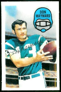 Don Maynard 1970 Kelloggs football card