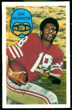 Gene Washington 1970 Kelloggs football card