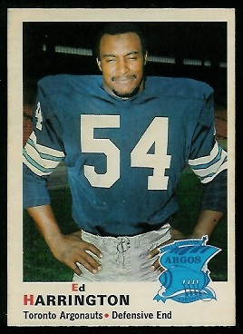 Ed Harrington 1970 O-Pee-Chee CFL football card