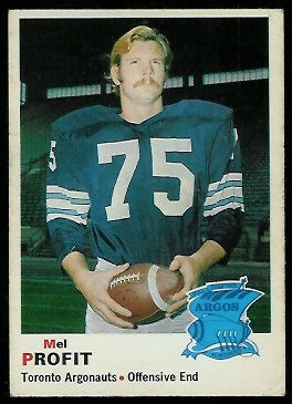 Mel Profit 1970 O-Pee-Chee CFL football card