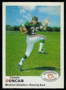 Dennis Duncan 1970 O-Pee-Chee CFL football card