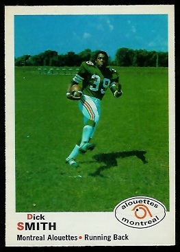 Dick Smith 1970 O-Pee-Chee CFL football card