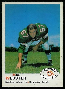 Mike Webster 1970 O-Pee-Chee CFL football card