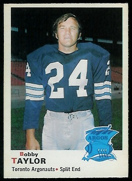Bobby Taylor 1970 O-Pee-Chee CFL football card