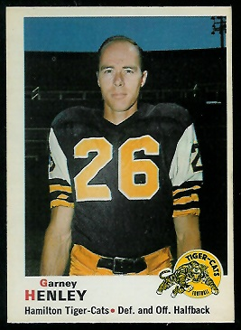 Garney Henley 1970 O-Pee-Chee CFL football card