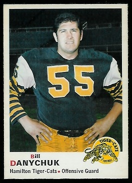 Bill Danychuk 1970 O-Pee-Chee CFL football card