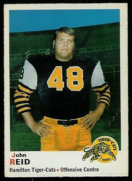 John Reid 1970 O-Pee-Chee CFL football card