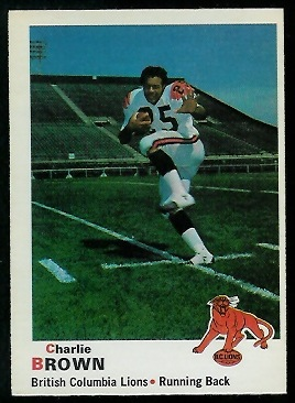 Charlie Brown 1970 O-Pee-Chee CFL football card