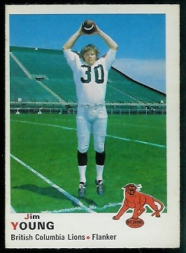 Jim Young 1970 O-Pee-Chee CFL football card