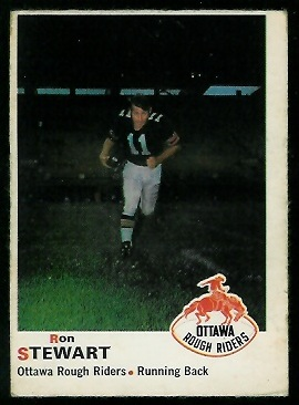 Ron Stewart 1970 O-Pee-Chee CFL football card