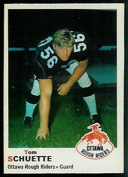 Tom Schuette 1970 O-Pee-Chee CFL football card