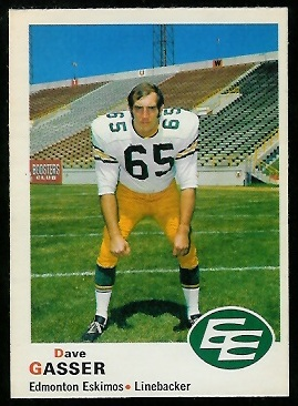 Dave Gasser 1970 O-Pee-Chee CFL football card