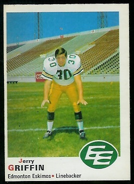 Jerry Griffin 1970 O-Pee-Chee CFL football card