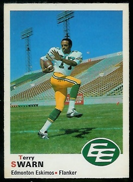 Terry Swarn 1970 O-Pee-Chee CFL football card