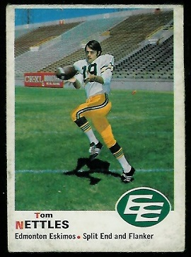 Tom Nettles 1970 O-Pee-Chee CFL football card