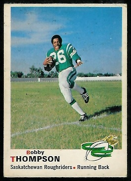 Bobby Thompson 1970 O-Pee-Chee CFL football card